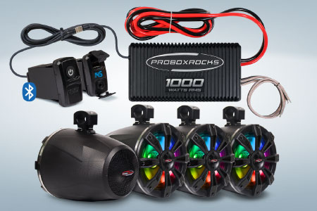 1000W Off-Road Audio Amplifier and Tower Speaker Kit