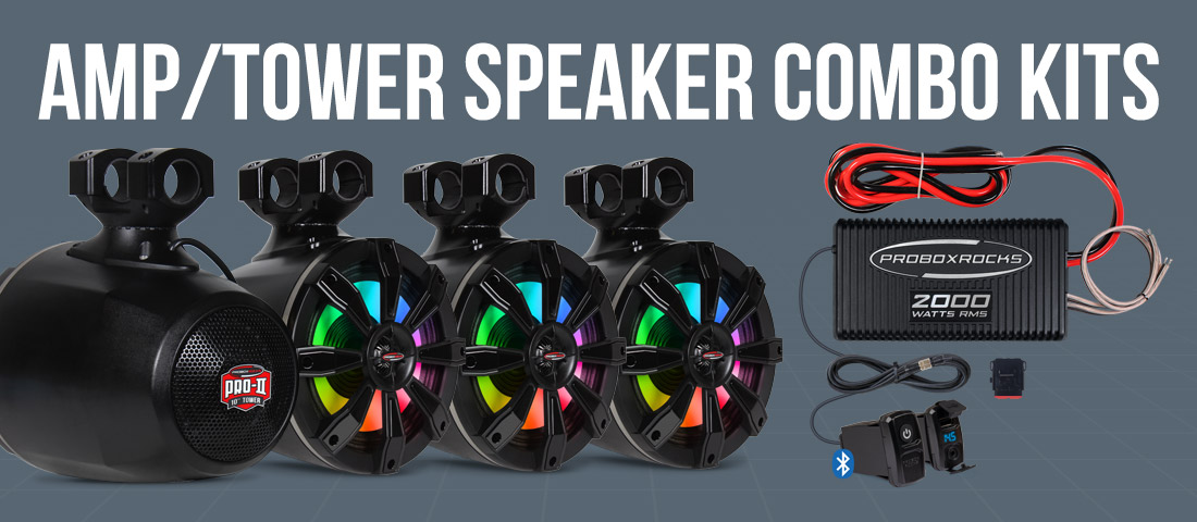Amp/Tower Speaker Combo Kits