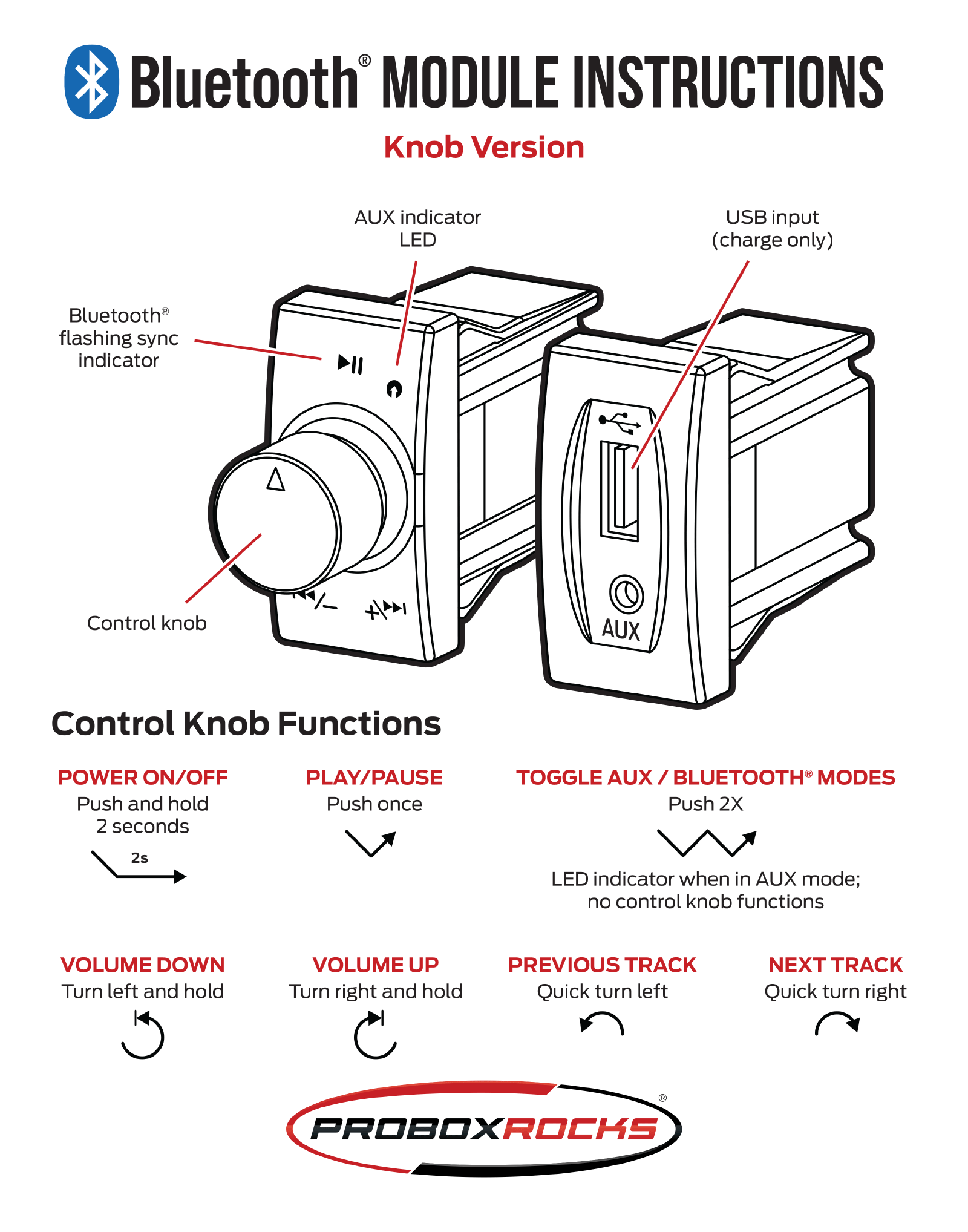 Bluetooth module instructions